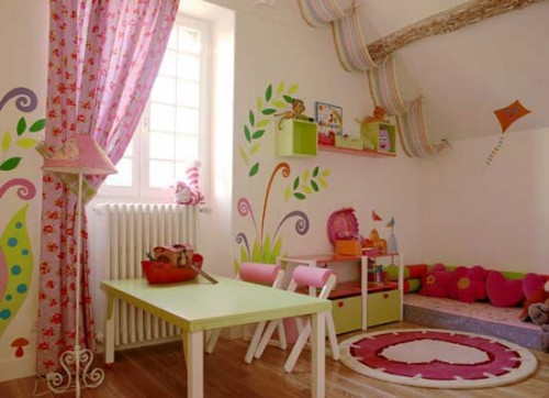 Amazing Pink Girl Playroom Decor