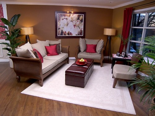 Best Family Room Lighting Design with Wooden Furniture