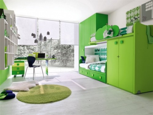 Best Natural Green Children Bedroom Designs