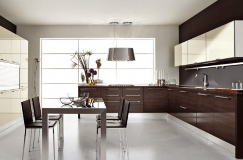 Elegant Kitchen with Dining Room Artistic