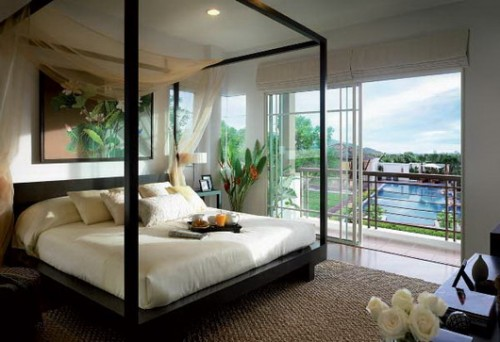 Elegant Tropical Bedroom Design Trendy on 2012