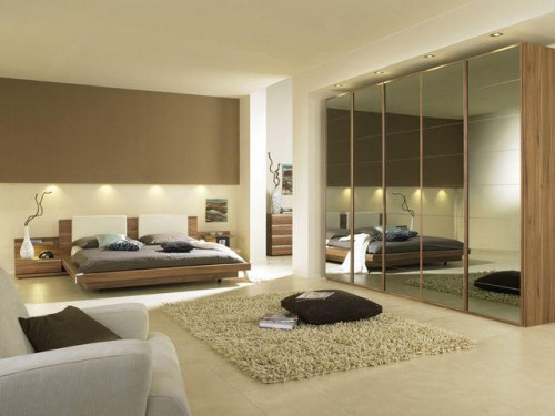 Excellent Mirror Bedroom with Hotel Room Concept