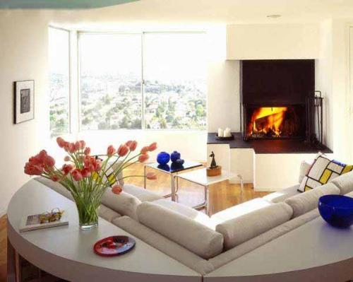 Flower in Living Room Decorating Ideas