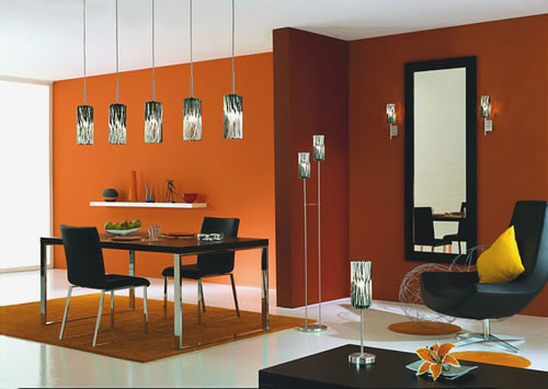 Great Dining Room Lighting with Luxury Interior Wall