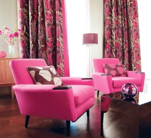 Great Pink Curtains House Design for 2011 Artistic