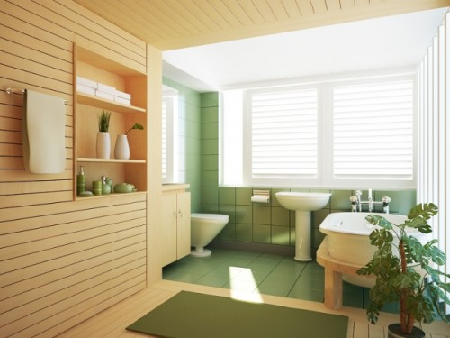 Luxurious Bathroom Designs Europa with Plant