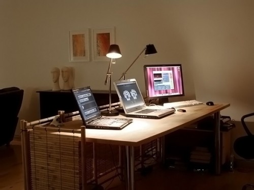 Minimalist Home Office Lighting Art