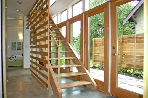 Minimalist House Wood Stairs Designs 2011