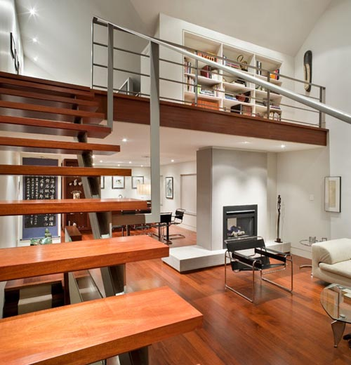 Modern Wood Stairs House Interior Designs