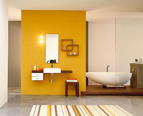 Modern Yellow Bathroom Inspiring