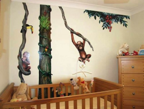 Monkey Themes For Kids Bedroom Decorating Ideas