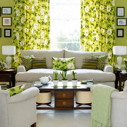 Natural Living Room With Flower