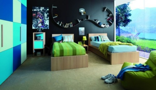 Natural Twins Children Bedroom Designs Art