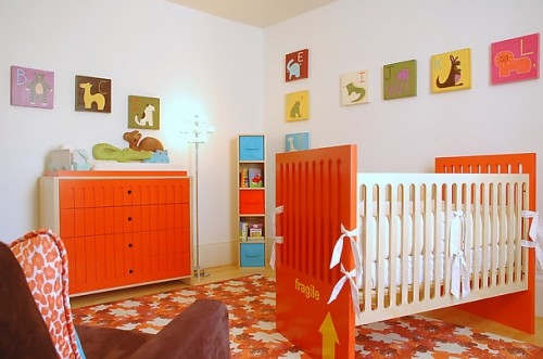 Orange Nursery Room Decorating Ideas