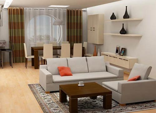 Simple Living Room Designs with Setting Architecture