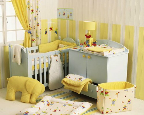Yellow baby room design ideas