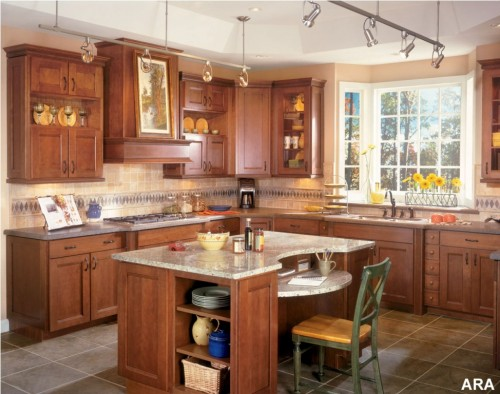 wooden furniture tuscan kitchen design