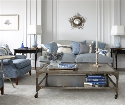 Amazing Victorian Blue Family Room for 2012 Trendy