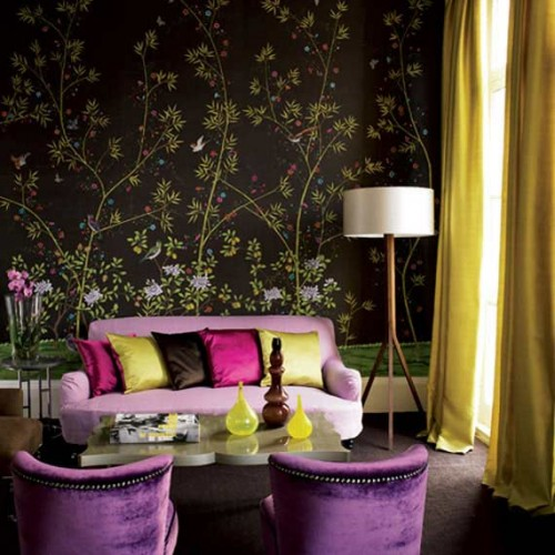 FLower Themes in Living Room Decorating Ideas