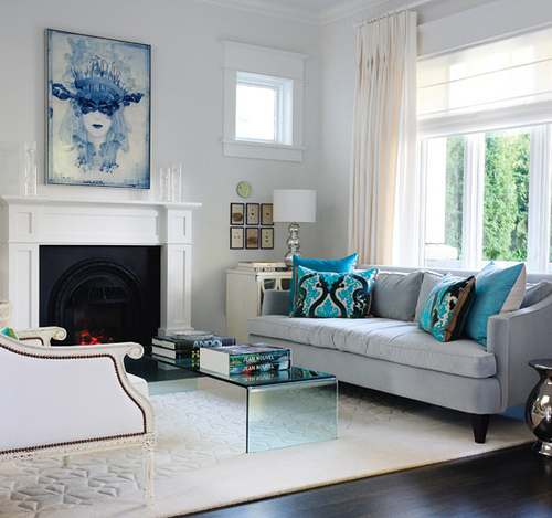Great Blue Living Room Trends