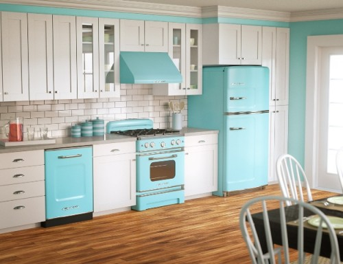 Great Kitchen Designs with Luxurious Color Wall