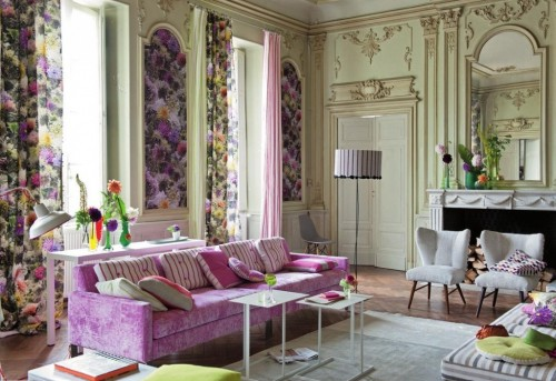 Living Room Decorating Ideas With Beautiful Flower