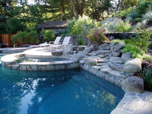 Luxurious House Designs with Swimming Pool Art