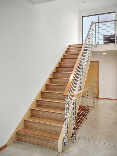 Luxurious Wood Stairs Home Design Ideas