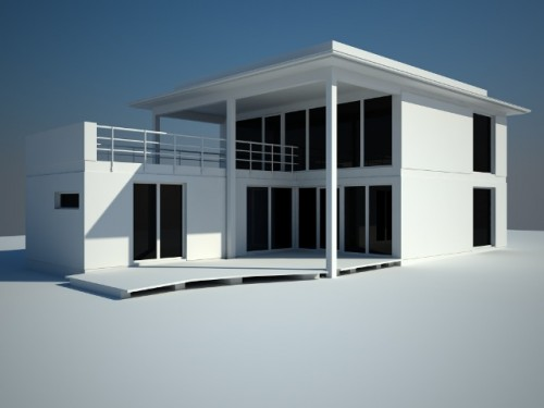 Moden House with Simple Architecture House