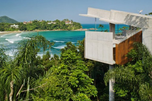 Natural Tropical House on Side Beach Designs Architecture