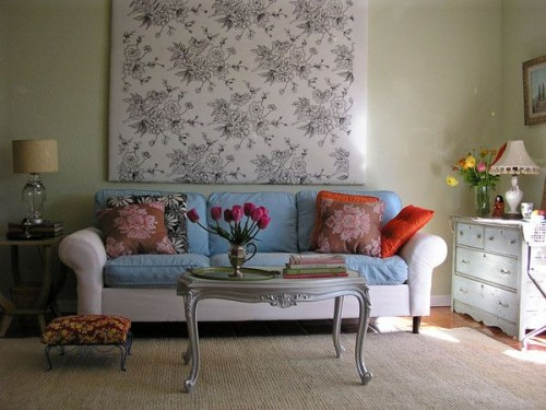 Luxury Living Room With Wall Wallpaper Decorating Ideas