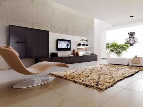 Living Room With Elegant Rugs